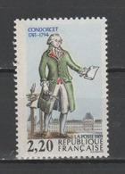 """FRANCE / 1989 / Y&T N° 2592 ** : """"Bicentenaire De La Révolution"""" (Condorcet) - Gomme D'origine Intacte - Unused Stamps"""