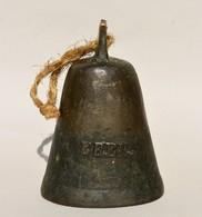 Ancienne Cloche En En Bronze Ou Laiton ? Marqué EBEB  (sans Battant) - Cloches