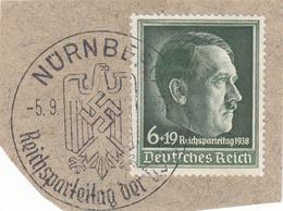REICH TIMBRE 613 SUR FRAGMENT - Germania