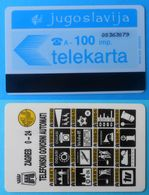 YUGOSLAVIA - 100. UNITS #2 ... Old & Rare Magnetic Card Autelca System * Jugoslavija Jugoslawien Jugoslavia - Joegoslavië