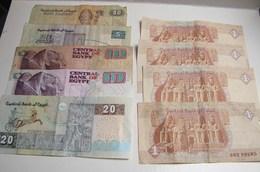 Billet. 20. Lot De 9 Billets Egyptien - Egypte