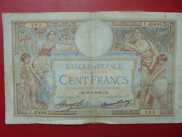 FRANCE 100 FRANCS 30-8-34 CIRCULER (B.4) - 1871-1952 Circulated During XXth