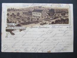 AK MÜLHEIM A.d.Ruhr Broich Speldorf Litho Haus Hammerstein 1897  // D*38974 - Muelheim A. D. Ruhr