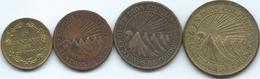 Nicaragua - 1943 - 1, 5, 10 & 25 Centavos (KMs 20-23) Brass Coinage - Nicaragua