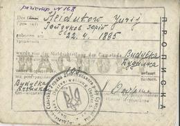 Ukraine - Nazi Germany 1941 Rare Soviet Passport Used As Occupational Ausweis Stamp With Ukrainian Trident WWII - 1939-45