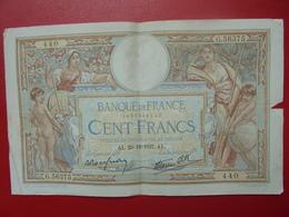 FRANCE 100 FRANCS 23-12-37 CIRCULER (B.4) - 1871-1952 Circulated During XXth
