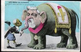 Illustrateur Politique Satirique Mille, Les Adieux De Sisowath, Elephant - Mille