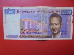 DJIBOUTI 5000 FRANCS 2002 CIRCULER (B.4) - Dschibuti