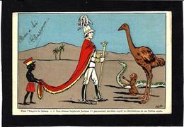 CPA SUCRE Jacques Premier Sahara Lebaudy Négritude Circulé Serpent Singe Autruche - Western Sahara