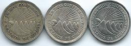 Nicaragua - 5 Centavos - 1946 (KM24.1) & 1965 (KM24.2) & 1972 (KM24.2a) - Nicaragua
