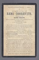 DOODSPRENTJE COOREVITS DESAUW ° DEERLIJK 1865 + KORTRIJK 1906 - Devotieprenten