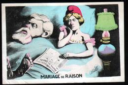 Illustrateur Politique Satirique Mille, Mariage De Raison, Mariane - Mille