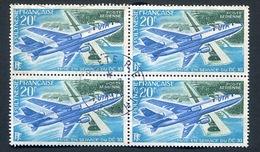 Polynésie PA No.74  X 4 -  DC 10  Oblitéré. Avion , Aeroplane - Oblitérés