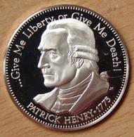 Amérique Médaille Argent  Patrick HENRY 1775  St John Church - Professionnels/De Société