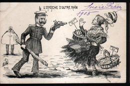Illustrateur Politique Satirique Mille, L'apache D'outre Rhin - Mille