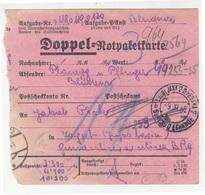 Doppel-Notpaketkarte 1939 To Yugoslavia B190615 - Storia Postale