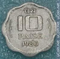 India 10 Paise, 1983 W/o Mintmark - Calcutta -4099 - Inde