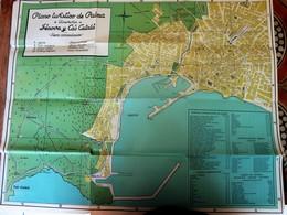 1950-ESPAÑA PLANO MAPA TURÍSTICO DE PALMA DE MALLORCA ITINERARIOS GENOVA Y CAS CATALA-ESPAGNE CARTE TOURISTIQUE DE PALMA - Folletos Turísticos
