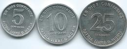 Nicaragua - 1981 - 5, 10 & 25 Centavos - Sandino Issues (KMs 49-51) - Nicaragua