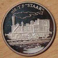 """Médaille Transport Ferroviaire, Locomotive Old T3 """"STAAR"""" - Professionnels / De Société"""