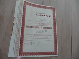 Essai Spécimen Action  500 Francs Laboratoire Labaz - Industrie