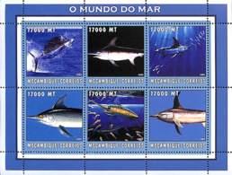 [37861]TB//**/Mnh-Mozambique 2002 - Espadon, Mer - Le Monde De La Mer. - Mozambique