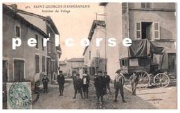 38  Saint Georges D' Espéranche  Intérieur Du Village Et Calèche De Transport à Diemoz - France
