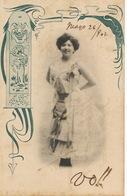 Decor Art Nouveau 1902 Japon Delly Mo Dancer French Can Can  P. Used Cuba - Danse