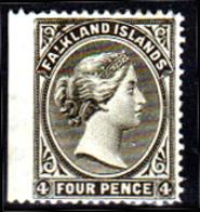 Falkland-0002-A - Emissione 1882-91 (+) LH - Non Dentellato A Sx - Senza Difetti Occulti. - Falkland