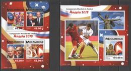 ST2290 2015 MOZAMBIQUE SPORTS FOOTBALL WORLD CUP RUSSIA 2018 1KB+1BL MNH - Coppa Del Mondo