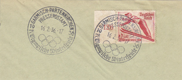 REICH 1 TIMBRE 560 JEUX OLYMPIQUE 1936 SUR 1 FRAGMENT - Gebruikt