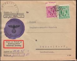 7+31 AM-Post Auf Zustellungsurkunde Amtsgericht MOERS 8.12.1945 Nach Düsseldorf - Bizone