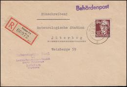 SBZ 227 August Bebel 84 Pf R-Bf. Meteorologischer Dienst Der DDR POTSDAM 29.4.52 - Sovjetzone