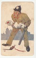 Policeman And Dead Rat Old Unused Postcard (Naklada Vereš, Zagreb) B190615 - Humor
