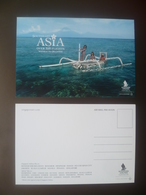 Vintage ! SINGAPORE AIRLINES Colour Postcard - Southeast ASIA (#00-1) - Stationery