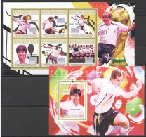 T383 2010 GUINEE GUINEA SPORT FOOTBALL ALLEMAGNE GERMANY WOLRD CUP 2010 1KB+1BL MNH - Calcio