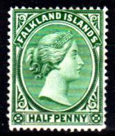 Falkland-0003 - Emissione 1891-96 (+) LH - Senza Difetti Occulti. - Falkland