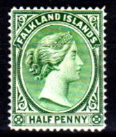 Falkland-0003-A - Emissione 1891-96 (+) LH - Senza Difetti Occulti. - Falkland
