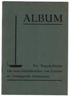 WWII - Album - Gefusilleerden Van Leuven En Omliggende Gemeenten - 33 Pers. - 3 Scans - 1939-45