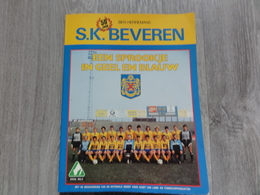 S.K. Beveren  * (Voetbal Boek)  *  50 Jaar S.K. Beveren, Een Sprookje In Geel En Blauw (Ben Herremans) - Beveren-Waas