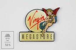 Virgin Megastore Vintage Music Advertising Pin Badge - Música