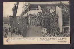 CPA 13 - MARSEILLE - Nos Alliés à Marseille Le Général Menissier Monte à Bord Du Bâteau LATOUCHE TREVILLE GUERRE 14-18 - Marseille