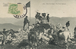 Poste Optique Chasseurs Alpins Alpes . Optical Post . Envoi à Curtet St Geoire Prieuré - Autres