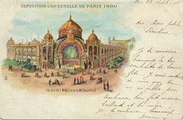 Exposition Universelle Paris 1900 Hand Colored Palais Mines Metallurgie Envoi à Léontine Crampon à Aumale - Expositions