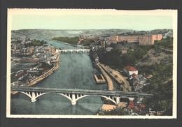 Huy - Panorama Vu De St-Léonard - Colorisée - éd. Artcolor / Vve Jean Laffut, Confiserie, Huy - Huy