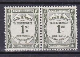 N° 43 Taxes Typographie Dentelé : Belle Paire De 2 Timbres Neuf Impeccable - 1859-1955 Nuevos