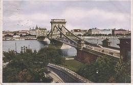 AK Budapest Kettenbrücke Brücke Lanchid Pont Suspendu Suspension Bridge Österreich Ungarn Magyarorszag Hungary Hongrie - Ungarn
