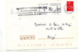 Lettre Flamme Bouaye Vin Lac Oiseau - Marcophilie (Lettres)