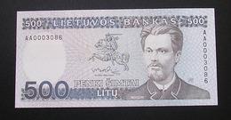 Lithuania 500 Litu 1991 UNC Low Number - Lituania