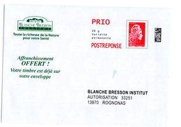 Enveloppe PAP Pret à Poster Reponse Marianne L'engagée Prio Blanche Bresson 225878 - Entiers Postaux